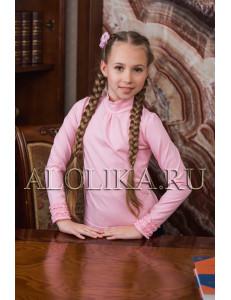 """Джемпер розового цвета с оборками на рукавах """"Ксюша"""""""
