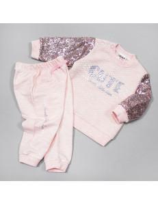 """Костюм цвета розовый меланж для девочек """"Карамелька"""""""