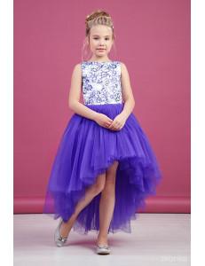 """Платье нарядное фиолетовое для девочек со шлейфом и блестками """"Балет"""""""